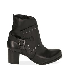 Ankle boots con borchie neri in pelle, Valerio 1966, 1007T5025PENERO036, 001 preview