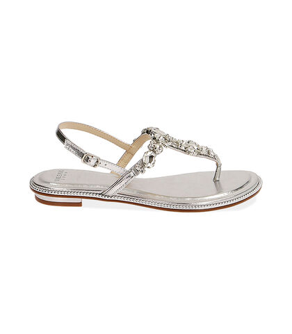 Sandali gioiello argento laminato , Valerio 1966, 1721T1838LMARGE035, 001