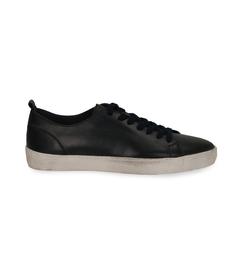 Sneakers blu in pelle con suola bianca, Valerio 1966, 1377T8081PEBLUE040, 001 preview