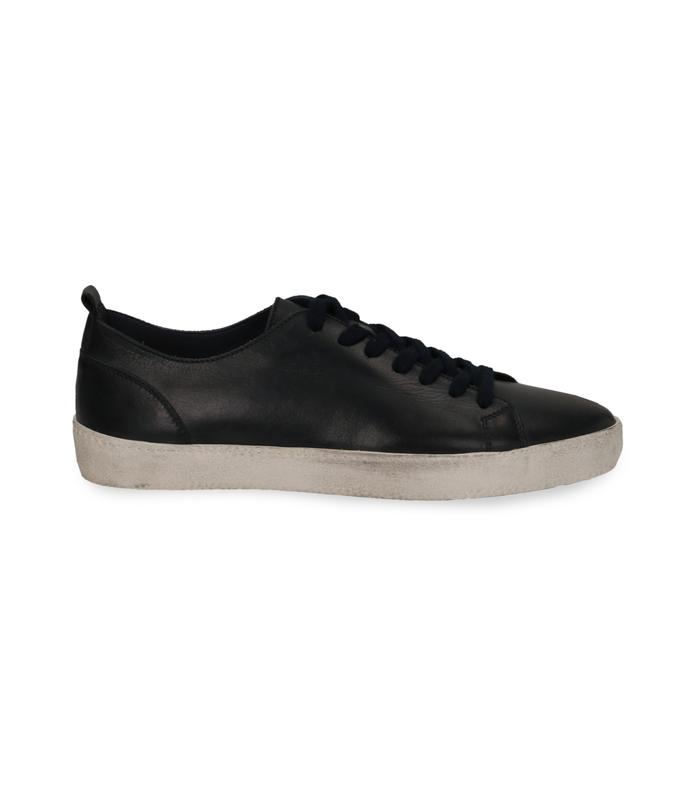 Sneakers blu in pelle con suola biancaValerio 1966, 1377T8081PEBLUE040
