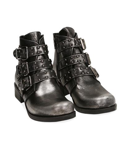 Biker boots canna di fucile in laminato , Valerio 1966, 1007T0101LMCANN035, 002