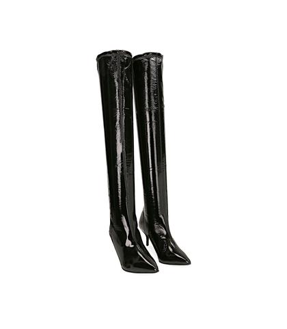 Stivali overknee neri in naplak, Valerio 1966, 1287T2262NPNERO035, 002