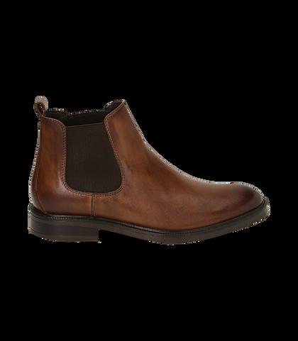 Chelsea boots testa di moro in pelle di vitello, UOMO, 1677T0608VIMORO039, 001