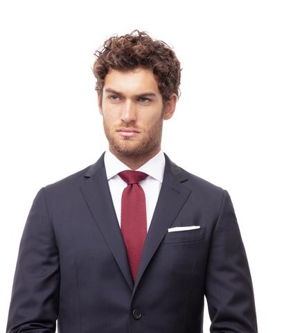 Cravatta bordeaux in cotone con fondo dritto, Accessori, 11I9T0024TSBORDUNI, 002