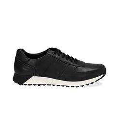 Sneakers nere in pelle con punta affusolata, Scarpe, 1195T5688PENERO040, 001 preview