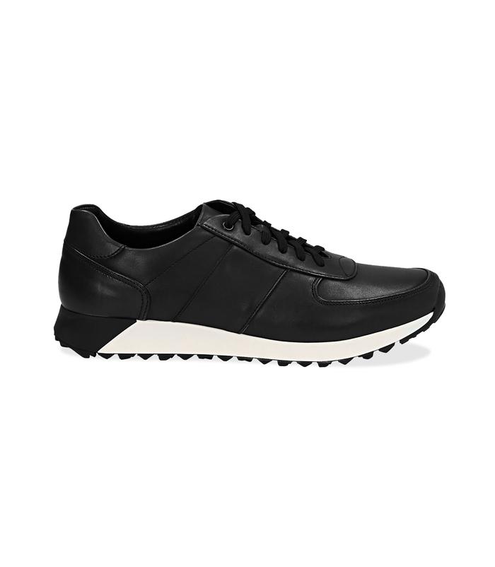 Sneakers nere in pelle con punta affusolataScarpe, 1195T5688PENERO040