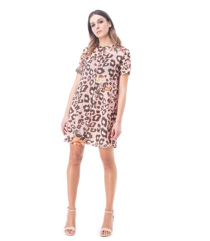Abito a trapezio cuoio leopard, Abbigliamento, 13T3T2237TSCULEL, 001
