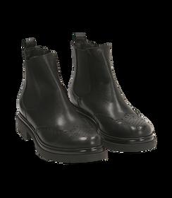 Chelsea boots neri in pelle di vitello con lavorazione Duilio, SALDI DONNA, 16A5T0038VINERO036, 002 preview
