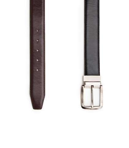 Cintura nera in ecopelle, Accessori, 1064T6545EPNERO110, 003