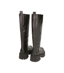 Stivali neri in pelle, tacco 5,5 cm , Valerio 1966, 1872T4461PENERO036, 003 preview
