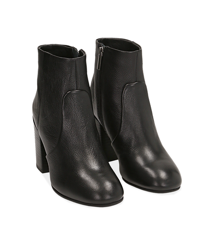 Ankle boots neri in pelle, Valerio 1966, 1253T3009PENERO035, 002
