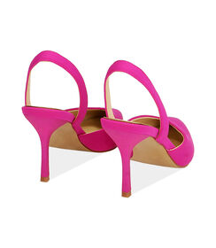 Slingback fucsia in lycra, tacco 8,5 cm , Valerio 1966, 1721T6282LYFUCS035, 004 preview