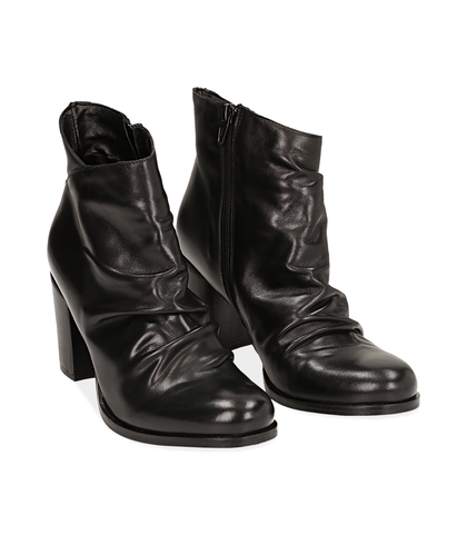 Ankle boots neri in pelle di vitello , Valerio 1966, 14A2T1171VINERO035, 002