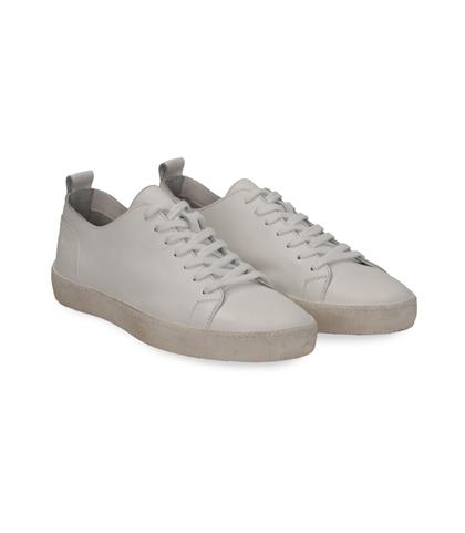 Sneakers bianche in pelle con suola bianca, Scarpe, 1377T8081PEBIAN040, 002