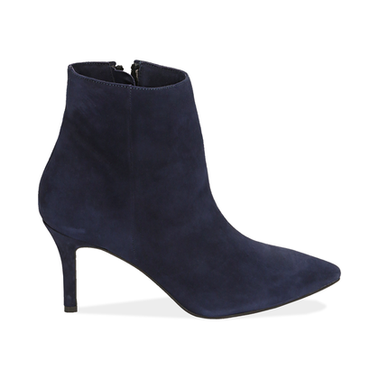 Ankle boots blu in camoscio , Scarpe, 12D6T8502CMBLUE035, 001
