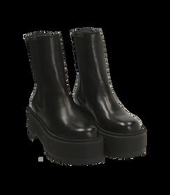 Chelsea boots platform neri in pelle di vitello , SALDI DONNA, 1689T8002VINERO040, 002 preview
