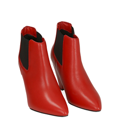 Chelsea boots rossi in pelle di vitello , Scarpe, 12D6T3910VIROSS036, 002 preview