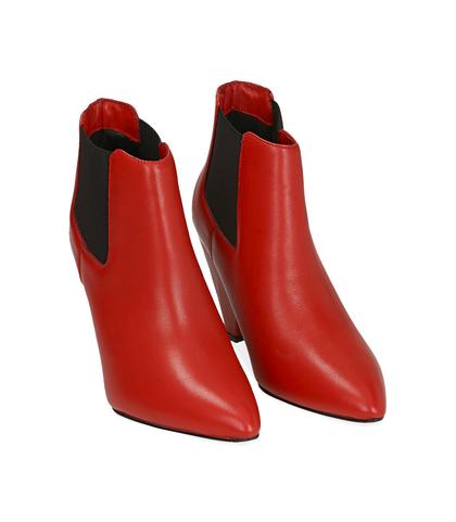 Chelsea boots rossi in pelle di vitello , Valerio 1966, 12D6T3910VIROSS035, 002