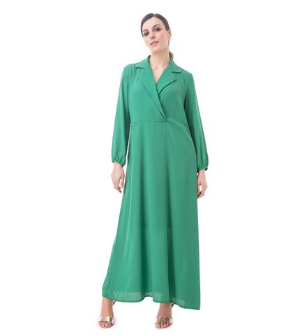 Abito midi verde, Abbigliamento, 13T3T1893TSVERDL, 001