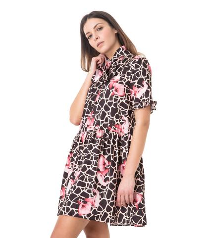 Abito corto leopard, Abbigliamento, 13T3T1891TSLEOPL, 002
