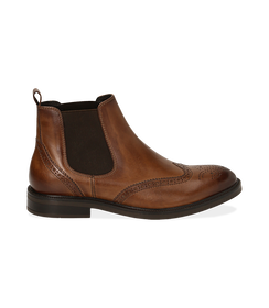 Chelsea boots testa di moro in pelle di vitello, Valerio 1966, 1677T0609VIMORO040, 001 preview