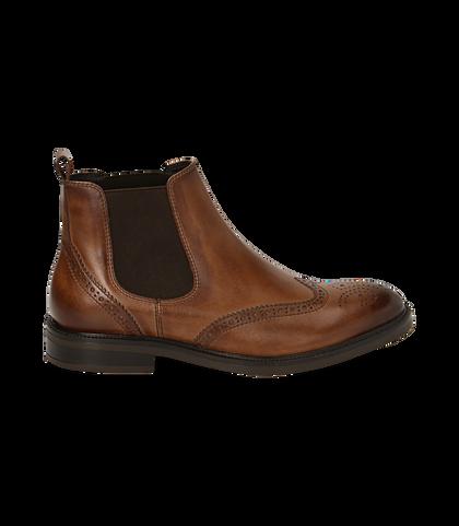 Chelsea boots testa di moro in pelle di vitello, Valerio 1966, 1677T0609VIMORO039, 001