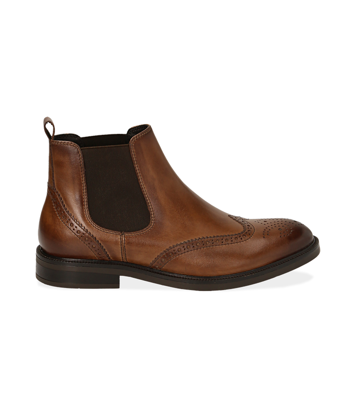 Chelsea boots testa di moro in pelle di vitelloValerio 1966, 1677T0609VIMORO040