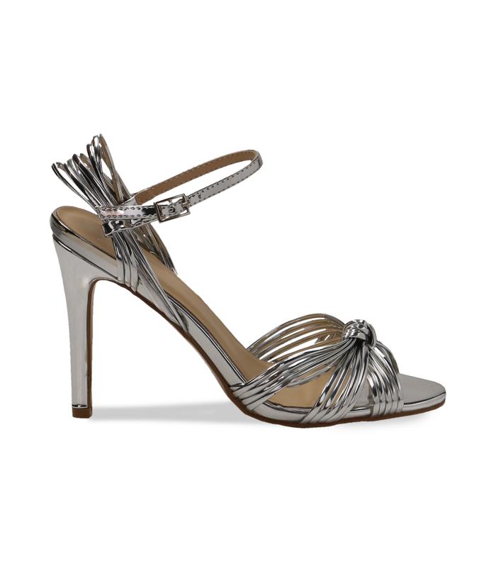 Sandali argento effetto mirrorDONNA, 0921T9542SPARGE035