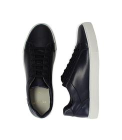 Sneakers blu in pelle con suola bianca, Scarpe, 1195T5735PEBLUE040, 003 preview