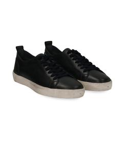 Sneakers blu in pelle con suola bianca, Valerio 1966, 1377T8081PEBLUE040, 002 preview
