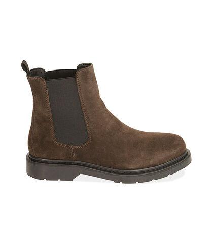 Chelsea boots testa di moro in camoscio, Valerio 1966, 1877T6120CMMORO039, 001