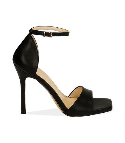 Sandali neri, tacco 10,5 cm , Valerio 1966, 1721T4210EPNERO035, 001