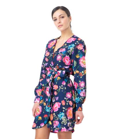 Vestito corto blu fiorato , Abbigliamento, 13T8T1234TFBLUEL, 002