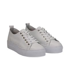 Sneakers bianco in pelle, Valerio 1966, 1577T0412PEBIAN036, 002 preview