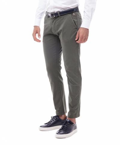 Pantaloni chino militari in cotone, UOMO, 11G5T2071TSMILI46, 001
