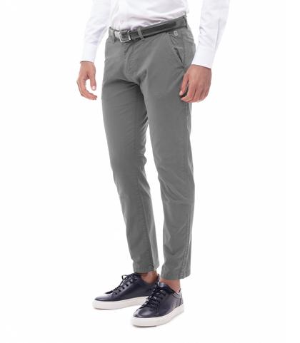 Pantaloni chino grigi in cotone, Abbigliamento, 11G5T2071TSGRIG46, 001