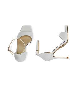 Sandali bianchi, tacco 10,5 cm , Valerio 1966, 1721T4210EPBIAN036, 003 preview