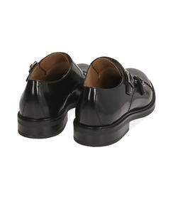 Scarpe doppia fibbia nere in pelle abrasivata, SALDI UOMO, 1577T0606APNERO043, 004 preview