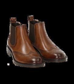 Chelsea boots testa di moro in pelle di vitello, Valerio 1966, 1677T0609VIMORO040, 002 preview