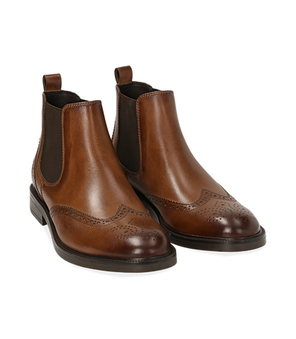 Chelsea boots testa di moro in pelle di vitello, Valerio 1966, 1677T0609VIMORO039, 002