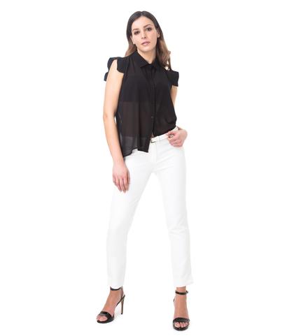 Pantaloni bianchi slim, 11F8T0203TSBIAN40, 001