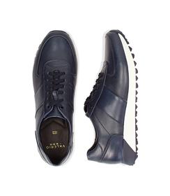 Sneakers blu in pelle con punta affusolata, UOMO, 1195T5688PEBLUE040, 003 preview