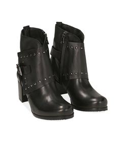 Ankle boots con borchie neri in pelle, Valerio 1966, 1007T5025PENERO036, 002 preview
