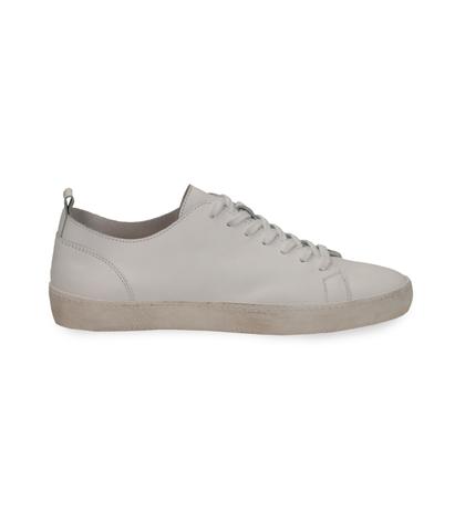 Sneakers bianche in pelle con suola bianca, Scarpe, 1377T8081PEBIAN040, 001
