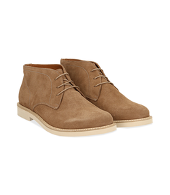 Desert boots taupe in camoscio , Valerio 1966, 1198T5847CMTAUP040, 002 preview