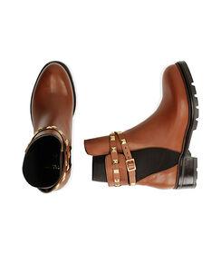 Chelsea boots cognac in pelle, Valerio 1966, 18A5T0505PECOGN036, 003 preview