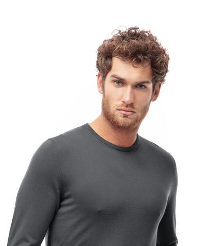 Maglioncino girocollo grigio in cotone, Abbigliamento, 13T4T2350TSGRIG48, 002