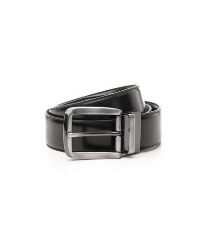 Cintura nera in ecopelle, Accessori, 1064T6545EPNERO110, 001