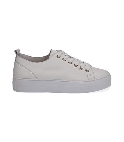 Sneakers bianco in pelle, Valerio 1966, 1577T0412PEBIAN035, 001