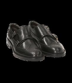 Monk strap nere in pelle di vitello, SALDI UOMO, 1677T0628VINERO040, 002 preview